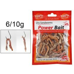 Dry Dry Sandworm Fishing Live Lure Natural Sandworm Smell 6 10g Bait Protable $7.92