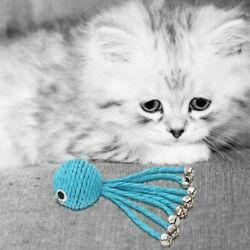 Blue Octopus With Bell Grinding Cat Toy Pet Playing Toy Pet Supplies Cat Toy $5.07