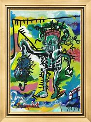 Jean Michel Basquiat old oil private collection $110.00