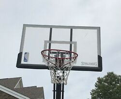 Spalding 54quot; Polycarbonate Portable Basketball Hoop Backboard Only $143.00