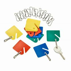 AdirOffice Multicolor Home Office Commercial Key Tags 100pc Key Holder Label Tag