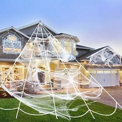 Mega Huge Giant Large Outdoor Yard Giant Spooky Spider Web Halloween Party Decor $13.90