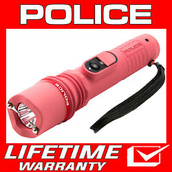 POLICE Stun Gun 305 Pink 650 BV Rechargeable With LED Flashlight $12.95