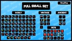 Roblox Murder Mystery 2 MM2 Small Set ALL godly ancient vintage weapons pet $28.98