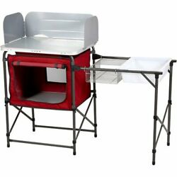 Deluxe Camp Kitchen for Fishing Camping Stove Kitchen with Storage amp; Sink Table $68.69