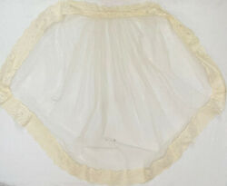 """Vintage Wedding Bridal Veil Mantilla Off White Tulle And Lace 36"""" $14.99"""
