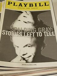 spalding gray stories left to tell playbill theatre show guide broadway $10.00