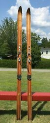 Beautiful Wooden BLOND SKIS 80quot; Long Snow W@W BEAUTIES $189.99