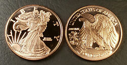 1 oz Copper Round Walking Liberty Made in the U.S.A. .999 Fine Prooflike $4.75