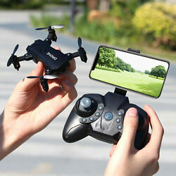 S107 Foldable Mini Drone RC 4K FPV HD Camera Wifi FPV Drone Selfie RC Helicopter $29.69