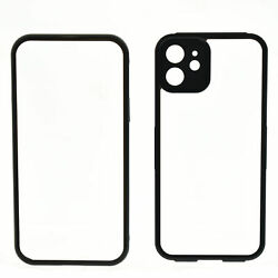 Hot Double Sided Buckle Case for iPhone 12 360 Magnetic Adsorption Metal Case $16.61