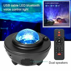 LED Galaxy Projector Lamp Starry Sky Night Light Ocean Star Party Speaker Remote $20.99