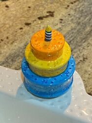 Nora Fleming One Of The First NF Mini's.. Birthday Cake Mini With Candle. RARE $399.99