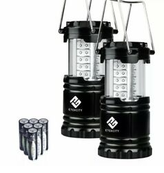 TWO 2 Portable Collapsible Tactical LED Lanterns Lamps Emergency Camp 6 AA $16.00
