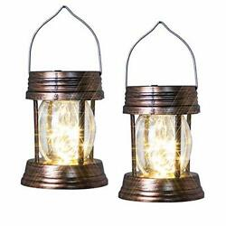 2 Pack Hanging Solar Lights Outdoor Solar Powered LED Lanterns Waterproof for G $21.33