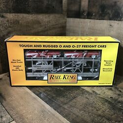 MTH Trains Rail King 30 7656 Auto Transport Carrier with ERTL 1957 Chevy#x27;s $54.95