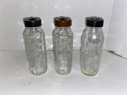 Vintage Lot of Three Evenflo and Pyrex Glass Baby Bottles $19.95