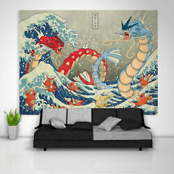 Japanese Gyarados Tapestry Art Wall Hanging Table Cover Posterr Home Decor USA $19.75
