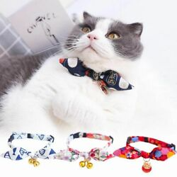 With Bell Bowtie Cat Necklace Pet Supplies Grooming Accessories Pet Collar C $4.32