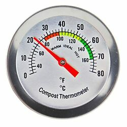 Compost Thermometer Stainless Steel Dial Ideal Composting Soil Thermometer ... $12.64