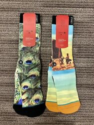2 Pairs of Mens Stance Dwayne Wade Collection Socks S M 6 8.5 $15.99