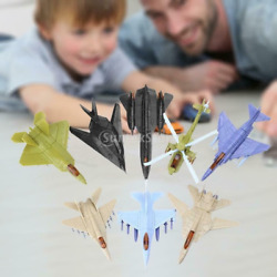 8x Jet Play Set Airplane Toys Set Military Fighter Bomber Helicopter Toys $16.14