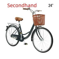 Secondhand 1 Speed Beach Bike Comfortable Commuter Bicycle w Bell Blue 24quot; $119.78