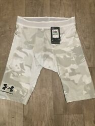 """UA Men's ISO Chill Compression Long Shorts 9"""" Large New Free Shipping $39.99"""