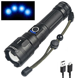 Tactical Super Bright LED Flashlight Rechargeable USB Zoom XHP50 Waterproof Lamp $13.99
