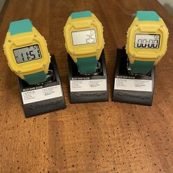 Freestyle Shark Classic XL Yellow Green Lot Of 3 Mens Watches 10026584 MSRP $225 $37.00