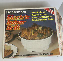 Contempra Electric Indoor Grill Vintage Made In USA $24.95