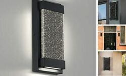 LED Wall SconcesModern Exterior Lights with Crystal BubbleOutdoor Indoor