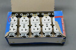 10ct Leviton Commercial White BR20 W 20A 125V Duplex Receptacle USA Made