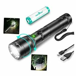 LED Flashlight High Lumens Rechargeable Zoomable Tactical Flashlights Super $38.28