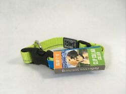 RC Pets Lime Green Reflective Clip Collar XS 7quot; 9quot; Small Dog Collar $8.50