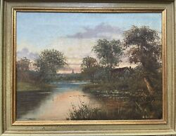 Old Oil Painting on Canvas $350.00