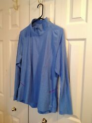Women#x27;s C9 by Champion Long Sleeve Active 1 4 Zip Blue XXL Semi Fitted $10.00