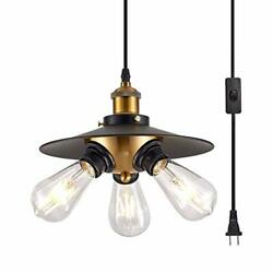 YLONG ZS Black Hanging Lamps Swag Lights Plug in Pendant Light 16.4 FT Cord a... $41.13