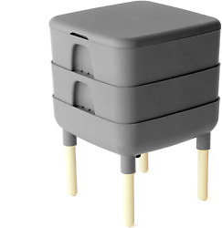 The Essential Living Composter Worm Composter Grey $130.45