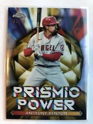 2021 Topps Chrome Prismic Power Gold 02 50 #15 Anthony Rendon Los Angeles Angels $6.99