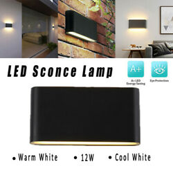 LED Wall Lights 12W Warm Cool White Hallway Exterior Lights US Up Down