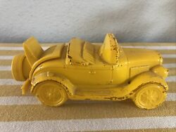 Vintage AVON Antique Car quot;WILD COUNTRY AFTER SHAVEquot; Yellow Glass Bottle Empty $7.99