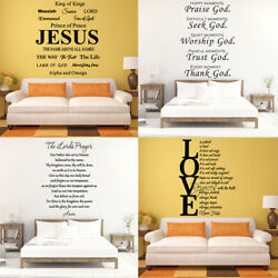 Large Size Bible Verse Wall Decals Christian Quote Vinyl Sticker Home Art Decor $7.90