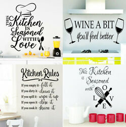 Kitchen Wall Decals Removable Vinyl Sticker Art Home Personalised Decor Mural $7.90