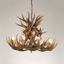 9 Lights Candle Chandelier Country with Antlers Resin Hanging Pendant Fixtures $249.00