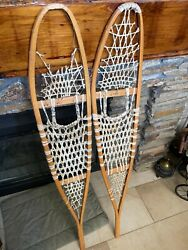 """Cabela#x27;s Vintage Snowshoes Made in Canada marked Alaska 10""""X 56"""" $40.00"""