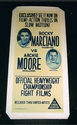 EXTREMELY RARE 1955 WORLD CHAMPION ROCKY MARCIANO vs ARCHIE MOORE boxing poster $1750.00