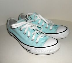 CONVERSE ALL STAR Women#x27;s Sz 10 Light Teal Blue Lace Up Tennis Shoes Low Top $19.99