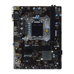 for MSI H110M S01 LGA 1151 Intel H110 DDR4 RAM SATA 6Gb s Micro ATX Motherboard $61.96