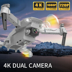 Foldable Selfie RC Quadcopter Drone 4K Wifi Wide Angle Camera Batteries $36.99